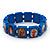 Stretch Blue Wooden Saints Bracelet / Jesus Bracelet / All Saints Bracelet - Up to 20cm Length - view 4