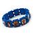 Stretch Blue Wooden Saints Bracelet / Jesus Bracelet / All Saints Bracelet - Up to 20cm Length - view 3