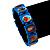 Stretch Blue Wooden Saints Bracelet / Jesus Bracelet / All Saints Bracelet - Up to 20cm Length - view 2