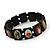Stretch Dark Brown Wooden Saints Bracelet / Jesus Bracelet / All Saints Bracelet - Up to 20cm Length - view 2