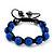 Unisex Sapphire Blue Coloured Swarovski Crystal Balls & Smooth Round Hematite Beads Buddhist Bracelet - 12mm - Adjustable - view 7