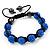 Unisex Sapphire Blue Coloured Swarovski Crystal Balls & Smooth Round Hematite Beads Buddhist Bracelet - 12mm - Adjustable - view 6