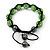 Unisex Grass Green Swarovski Crystal Balls & Smooth Round Hematite Beads Buddhist Bracelet - 12mm - Adjustable - view 3