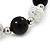 Black/ White Ceramic Bead Flex Bracelet - 21cm Length - view 4