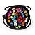 Multicoloured Shell Beaded Wired Flex Bracelet - Adjustable - view 9