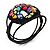 Multicoloured Shell Beaded Wired Flex Bracelet - Adjustable - view 7