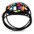 Multicoloured Shell Beaded Wired Flex Bracelet - Adjustable - view 5