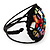 Multicoloured Shell Beaded Wired Flex Bracelet - Adjustable - view 6