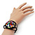 Multicoloured Shell Beaded Wired Flex Bracelet - Adjustable - view 3