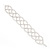 Bridal Clear Diamante Bracelet In Silver Plated Metal - 17cm Length - view 2