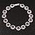 Light Purple/Clear Swarovski Crystal Floral Bracelet In Rhodium Plated Metal - 17cm Length