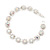 Clear/ AB Crystal Floral Bracelet In Rhodium Plated Metal - 17cm Length - view 2