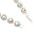 Clear/ AB Crystal Floral Bracelet In Rhodium Plated Metal - 17cm Length - view 5