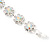 Clear/ AB Crystal Floral Bracelet In Rhodium Plated Metal - 17cm Length - view 9