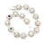 Clear/ AB Crystal Floral Bracelet In Rhodium Plated Metal - 17cm Length - view 12