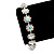 Clear/ AB Crystal Floral Bracelet In Rhodium Plated Metal - 17cm Length - view 4