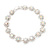 Clear/ AB Crystal Floral Bracelet In Rhodium Plated Metal - 17cm Length - view 13