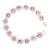 Pink/Clear Swarovski Crystal Floral Bracelet In Rhodium Plated Metal - 17cm Length - view 2