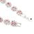 Pink/Clear Swarovski Crystal Floral Bracelet In Rhodium Plated Metal - 17cm Length - view 6