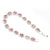 Pink/Clear Swarovski Crystal Floral Bracelet In Rhodium Plated Metal - 17cm Length - view 8