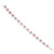 Pink/Clear Swarovski Crystal Floral Bracelet In Rhodium Plated Metal - 17cm Length - view 10