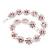 Pink/Clear Swarovski Crystal Floral Bracelet In Rhodium Plated Metal - 17cm Length - view 12