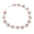 Pink/Clear Swarovski Crystal Floral Bracelet In Rhodium Plated Metal - 17cm Length - view 13