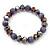 Purple Glass Bead Flex Bracelet - 18cm Length