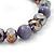 Purple Glass Bead Flex Bracelet - 18cm Length - view 3