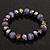 Purple Glass Bead Flex Bracelet - 18cm Length - view 2