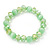 Light Green Glass Bead Flex Bracelet - 18cm Length