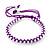 Plaited Purple Silk Cord With Silver Tone Bead Friendship Bracelet - Adjustable - view 5