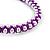 Plaited Purple Silk Cord With Silver Tone Bead Friendship Bracelet - Adjustable - view 3