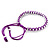 Plaited Purple Silk Cord With Silver Tone Bead Friendship Bracelet - Adjustable - view 4