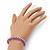 Plaited Purple Silk Cord With Silver Tone Bead Friendship Bracelet - Adjustable - view 2
