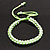 Plaited Neon Lime Green Silk Cord With Silver Tone Bead Friendship Bracelet - Adjustable - view 3