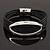 Silver Tone Oval Black Cotton Cord Magnetic Bracelet - 19cm Length - view 3