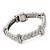 Stylish Braided Diamante Magnetic Bracelet In Matt Silvertone - 17cm Length - view 8