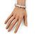 Stylish Braided Diamante Magnetic Bracelet In Matt Silvertone - 17cm Length - view 4