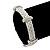 Stylish Braided Diamante Magnetic Bracelet In Matt Silvertone - 17cm Length - view 3