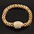 Gold Plated Diamante Mesh Magnetic Bracelet - 19cm Length