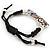 Multicoloured Enamel 'Owl' Black Cotton Cord Bracelet - Adjustable - view 5