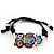 Multicoloured Enamel 'Owl' Black Cotton Cord Bracelet - Adjustable - view 6