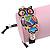 Multicoloured Enamel 'Owl' Black Cotton Cord Bracelet - Adjustable - view 2