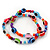 Set Of 2 Multicoloured 'Evil Eye' Flex Teen Bracelets - Adjustable - view 6