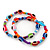 Set Of 2 Multicoloured 'Evil Eye' Flex Teen Bracelets - Adjustable - view 5