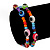 Set Of 2 Multicoloured 'Evil Eye' Flex Teen Bracelets - Adjustable - view 2