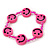Children's Deep Pink Acrylic 'Happy Face' Bracelet - Adjustable