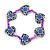 Children's Purple Acrylic 'Heart' Bracelet - Adjustable