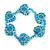 Children's Blue Acrylic 'Heart' Bracelet - Adjustable